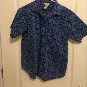 Izod large 14/16 short sleeve shirt for boys blue